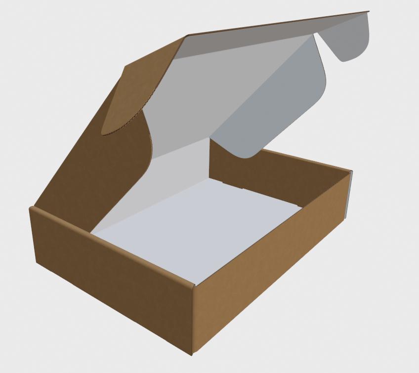 Brown Outside   White Inside – E-Flute (1.5mm)